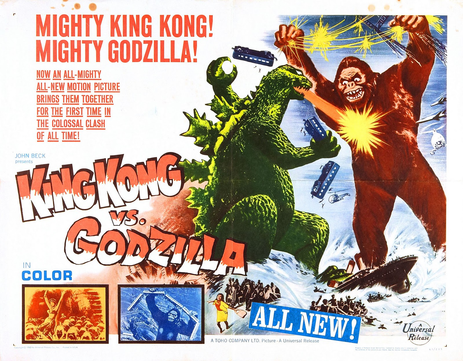Image result for images of the 1962 king kong vs godzilla
