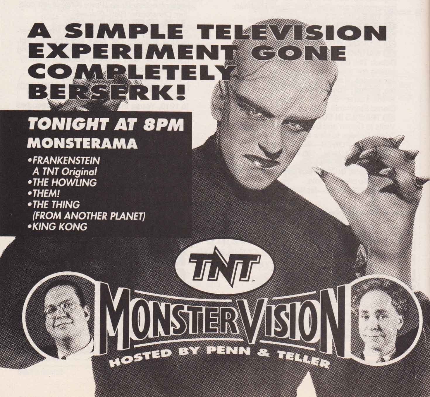 tnt s monstervision tv listings updated 2 19 2018 cinemassacre productions. Black Bedroom Furniture Sets. Home Design Ideas
